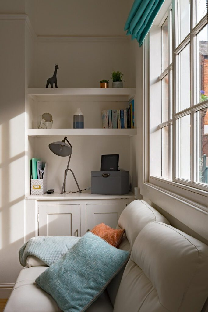 beautiful, interior, window